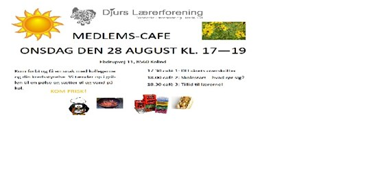 Invitation Til Medlems Cafe